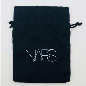 NARS Brand Black cosmetic bag drawstring sides